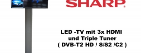 "Sharp 40"" HD LED TV mit Triple Tuner"