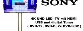 "Sony 75"" 4K UHD LED TV mit digital Tuner"