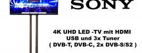 "Sony 55"" 4K UHD LED TV mit Mehrfachanschlüssen"