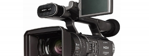 High Definition-Video auf Band, der Sony Camcorder mit miniDV / HDV