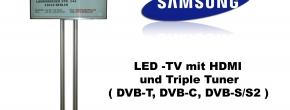 "Samsung 40"" HD LED TV mit Triple Tuner"